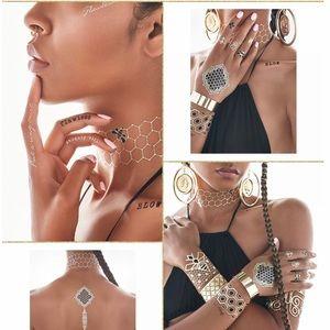 Beyoncé Designed Metallic Flash Tattoos